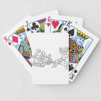 Baralhos De Poker Trenó Reindee do trenó do Fling do Natal de Papai