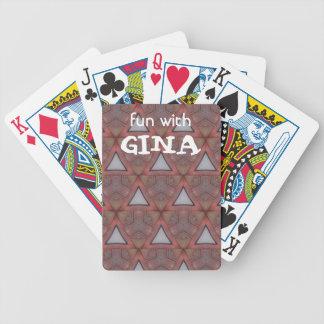 Baralhos De Poker Triângulo modelado