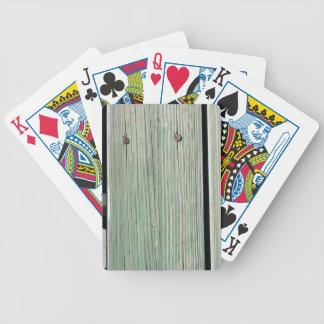 Baralhos De Poker Verde e passagem de madeira da prancha de Brown
