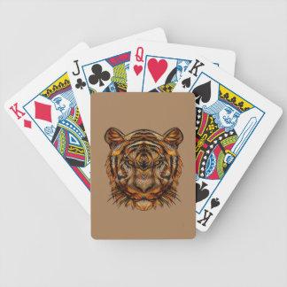Baralhos De Pôquer A cabeça 1a do tigre
