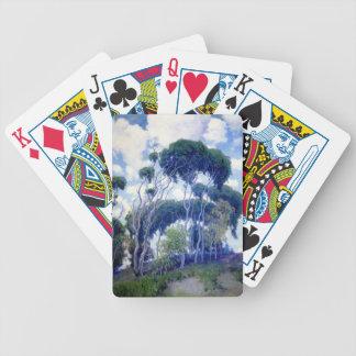 Baralhos De Pôquer A cara aumentou - eucalipto de Laguna - obra-prima