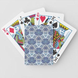 Baralhos De Pôquer A engrenagem geométrica artística azul gosta do