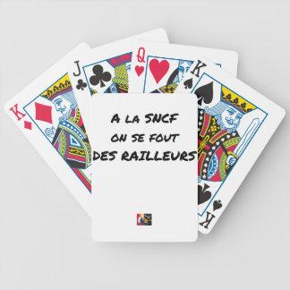 Baralhos De Pôquer À SNCF ELE SE FOUT RAILLEURS - Jogos de palavras