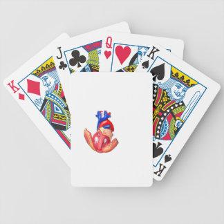 Baralhos De Pôquer Abra o coração humano modelo no fundo branco