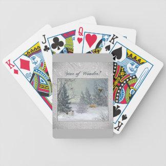 Baralhos De Pôquer Animais na floresta do inverno, árvore com