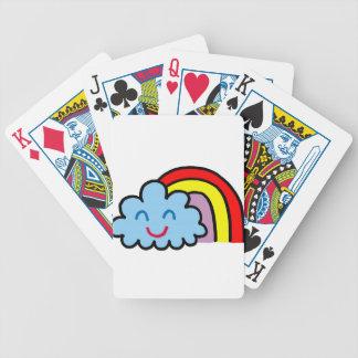 Baralhos De Pôquer Arco-íris feliz da nuvem