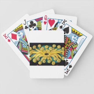 Baralhos De Pôquer arte amarela da explosão da flor