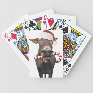 Baralhos De Pôquer Asno do Natal - asno do papai noel - papai noel do