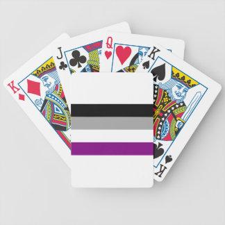 Baralhos De Pôquer Bandeira assexuada do orgulho