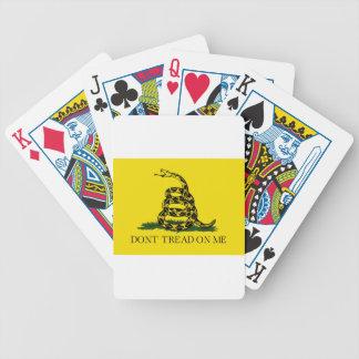 Baralhos De Pôquer Bandeira de Gadsden - não pise em mim - cobra