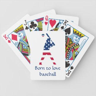 Baralhos De Pôquer Bandeira do americano do basebol de América