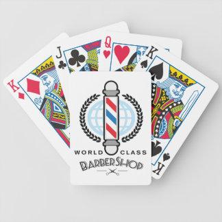 Baralhos De Pôquer Barbearia da classe do mundo