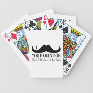 Baralhos De Pôquer Bigode na moda e legal de I você uma pergunta