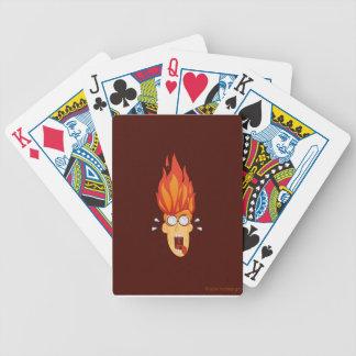 Baralhos De Pôquer Cabeça quente flamejante