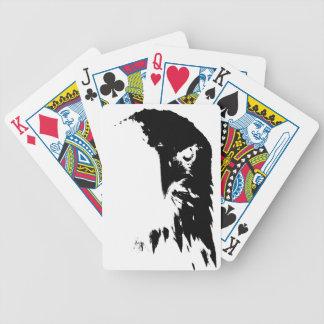 Baralhos De Pôquer Cartões de jogo pretos & brancos da águia