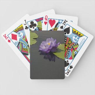 Baralhos De Pôquer Cartões de jogo roxos de Lotus Waterlily