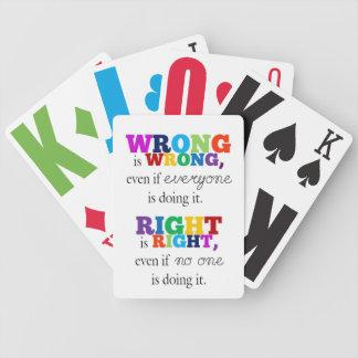 Baralhos De Pôquer Certo & Errado