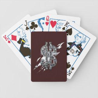 Baralhos De Pôquer Cobres Of Cards cash Rules dólar Sign Diamond