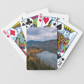 Baralhos De Pôquer Cor da queda ao longo do desfiladeiro Oregon do