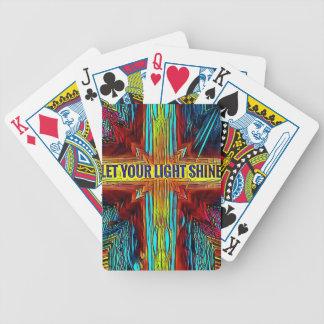 """Baralhos De Pôquer """"Deixe cruz moderna da diversidade do seu brilho"""
