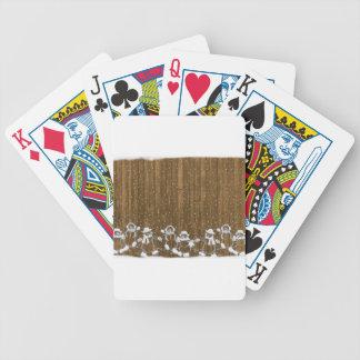 Baralhos De Pôquer Desenho da vara do Natal