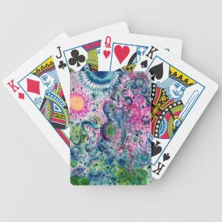 Baralhos De Pôquer design abstrato colorido do divertimento