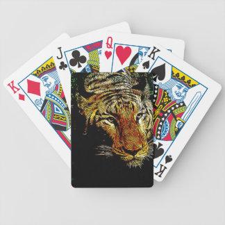 Baralhos De Pôquer do safari predador dos animais selvagens da selva