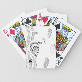 Baralhos De Pôquer Doodle preto e branco da cisne