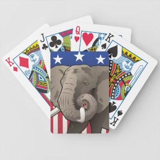 Baralhos De Pôquer Elefante dos EUA, orgulho republicano