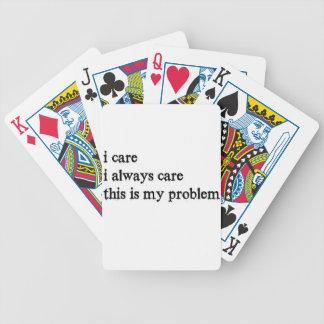Baralhos De Pôquer eu importo-me o cuidado que de i sempre este é meu