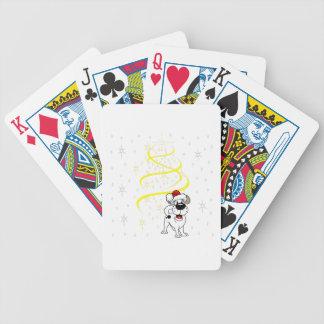 Baralhos De Pôquer Filhotes de cachorro do Natal
