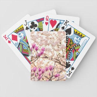 Baralhos De Pôquer Flor roxa cor-de-rosa de florescência do primavera