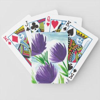 Baralhos De Pôquer Flores roxas