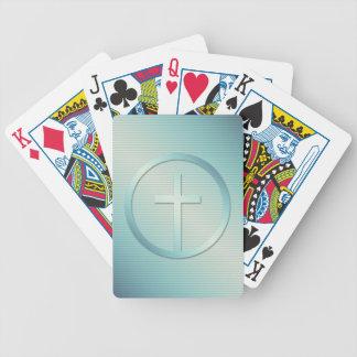 Baralhos De Pôquer Gráfico transversal retro do emblema