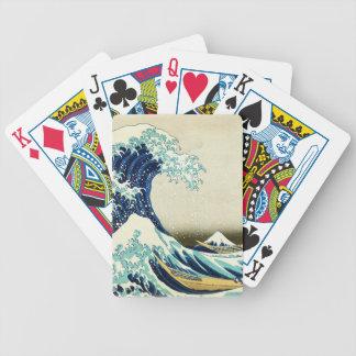 Baralhos De Pôquer Grande onda fora de Kanagawa