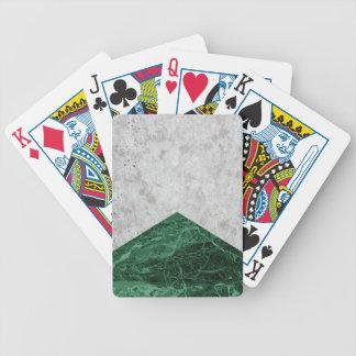 Baralhos De Pôquer Granito concreto #412 do verde da seta