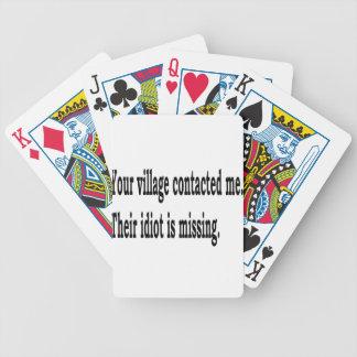 Baralhos De Pôquer Idiota da vila