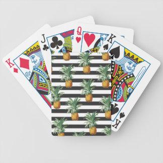 Baralhos De Pôquer listras dos abacaxis cinzentas