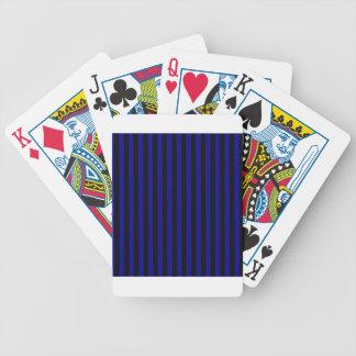 Baralhos De Pôquer Listras finas - pretas e azuis escuro