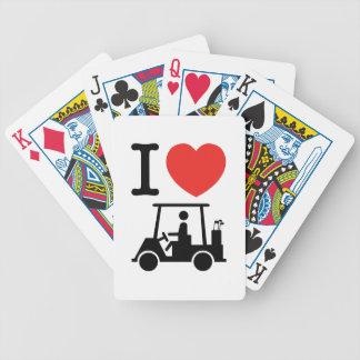 Baralhos De Pôquer Mim carro de golfe do coração (amor)