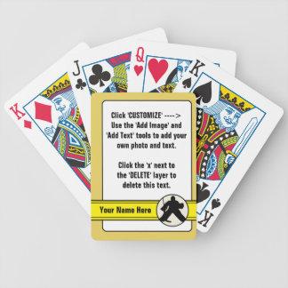 Baralhos De Pôquer Modelo customizável da plataforma de cartão do