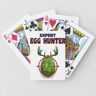 Baralhos De Pôquer O caçador perito da páscoa, cervo do ovo visa o