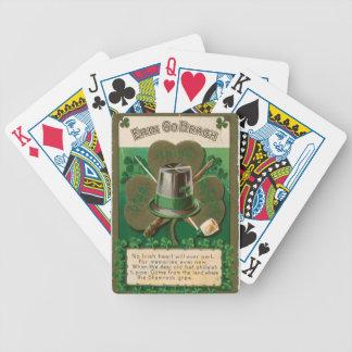 Baralhos De Pôquer O erin do trevo do dia de VintageSaint Patrick vai