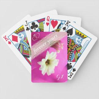 Baralhos De Pôquer Para sempre seus picam/flores coloridos roxo do