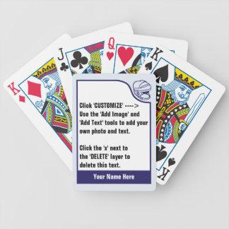 Baralhos De Pôquer Personalize sua própria plataforma de cromo de