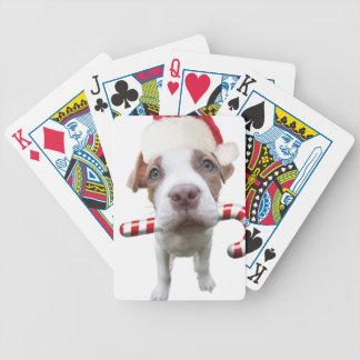 Baralhos De Pôquer Pitbull do Natal - pitbull do papai noel - cão de