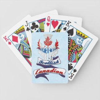 Baralhos De Pôquer Plataforma de cartão canadense escocesa do cardo