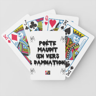 Baralhos De Pôquer Poeta maldiz (em PARA E DAMNATION) - Jogos de