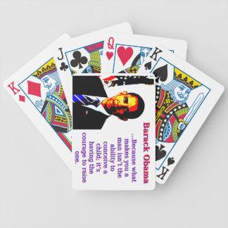 Baralhos De Pôquer Porque o que lhe faz um homem - Barack Obama
