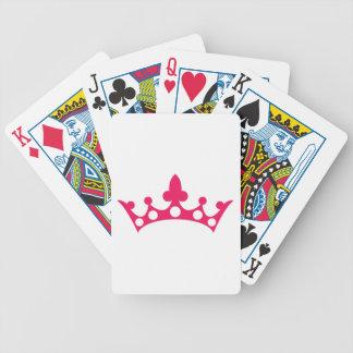 Baralhos De Pôquer Princesa cor-de-rosa Tiara